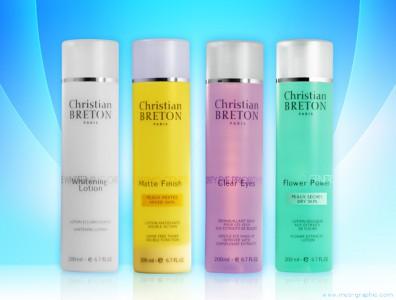 Packshot de produits de cosmétique
