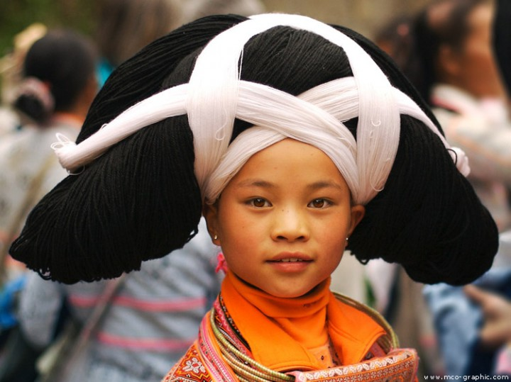 Portrait d'une jeune fille chinoise