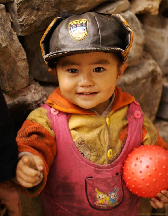 Portrait photo d'un enfant chinois
