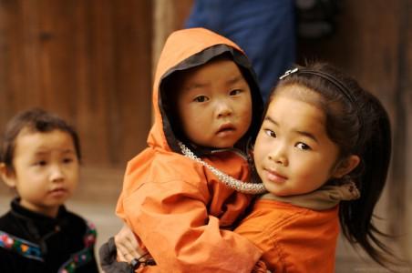 Portrait photo de jeunes chinois Miao