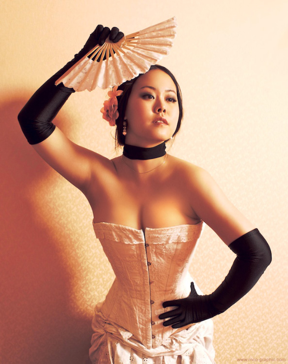 Chinese girl with a fan