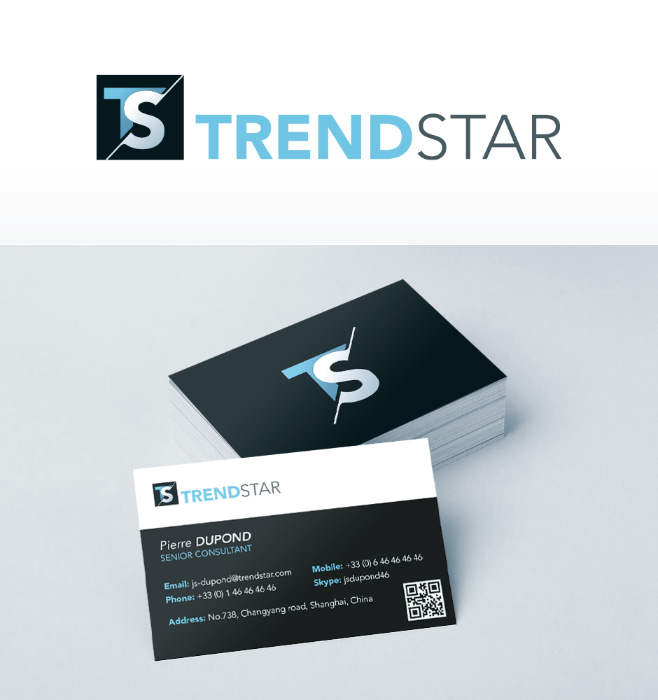 Visual identity: business cards