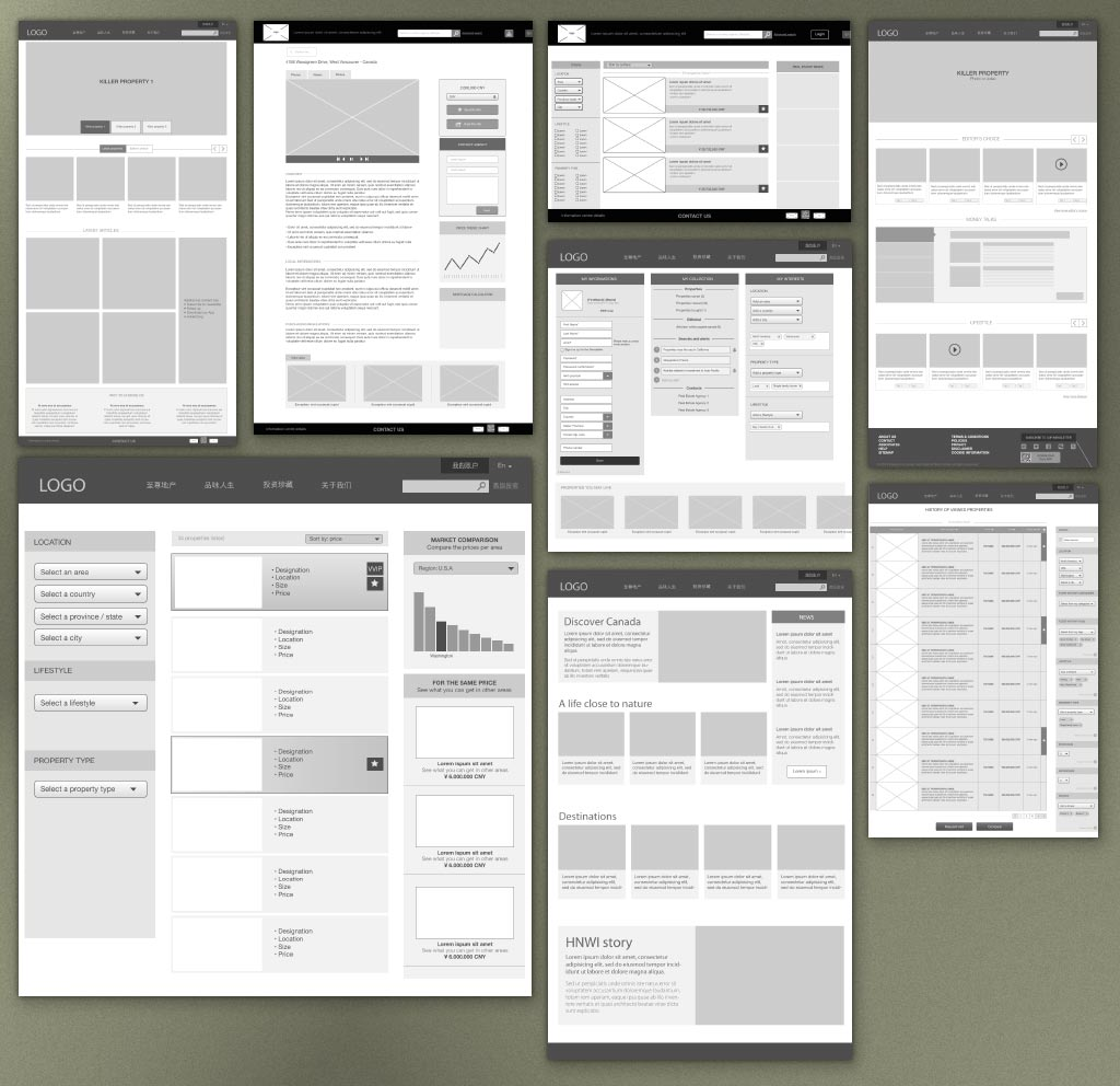 UX Design: setting the structure through mock-up