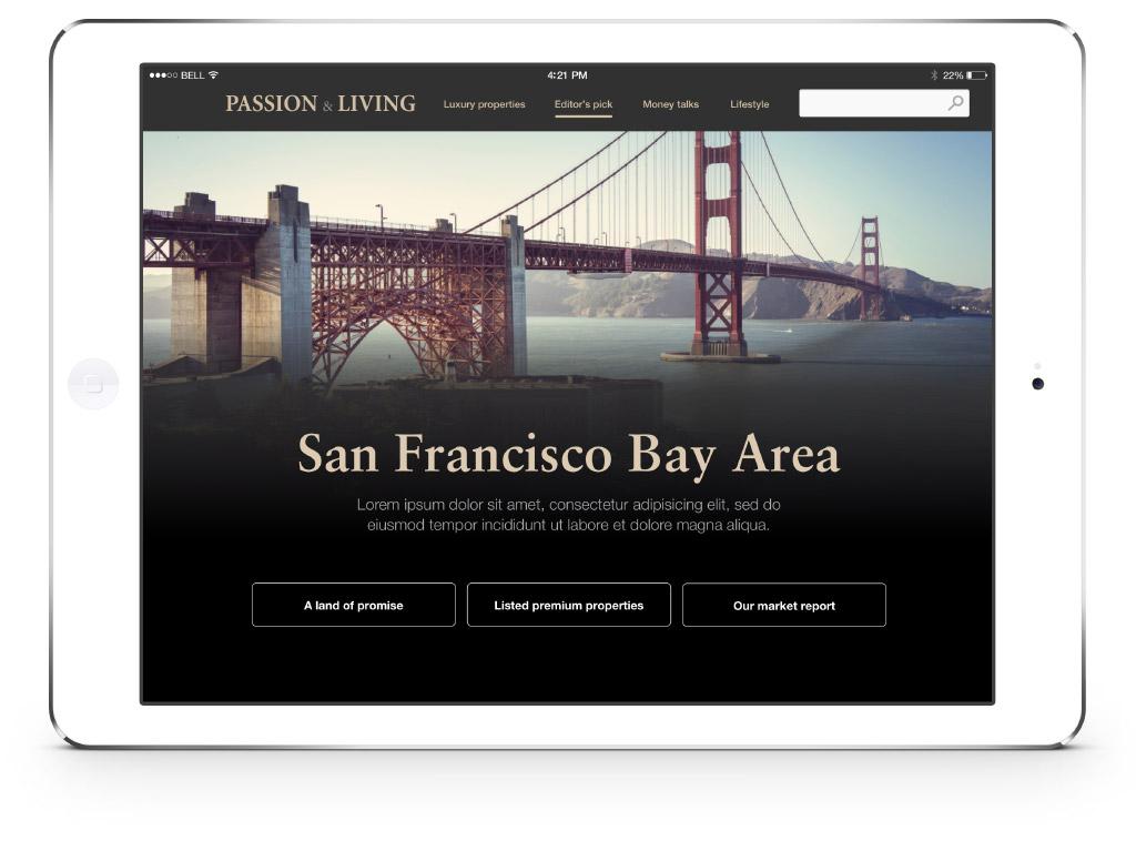 iPad version of User Interface