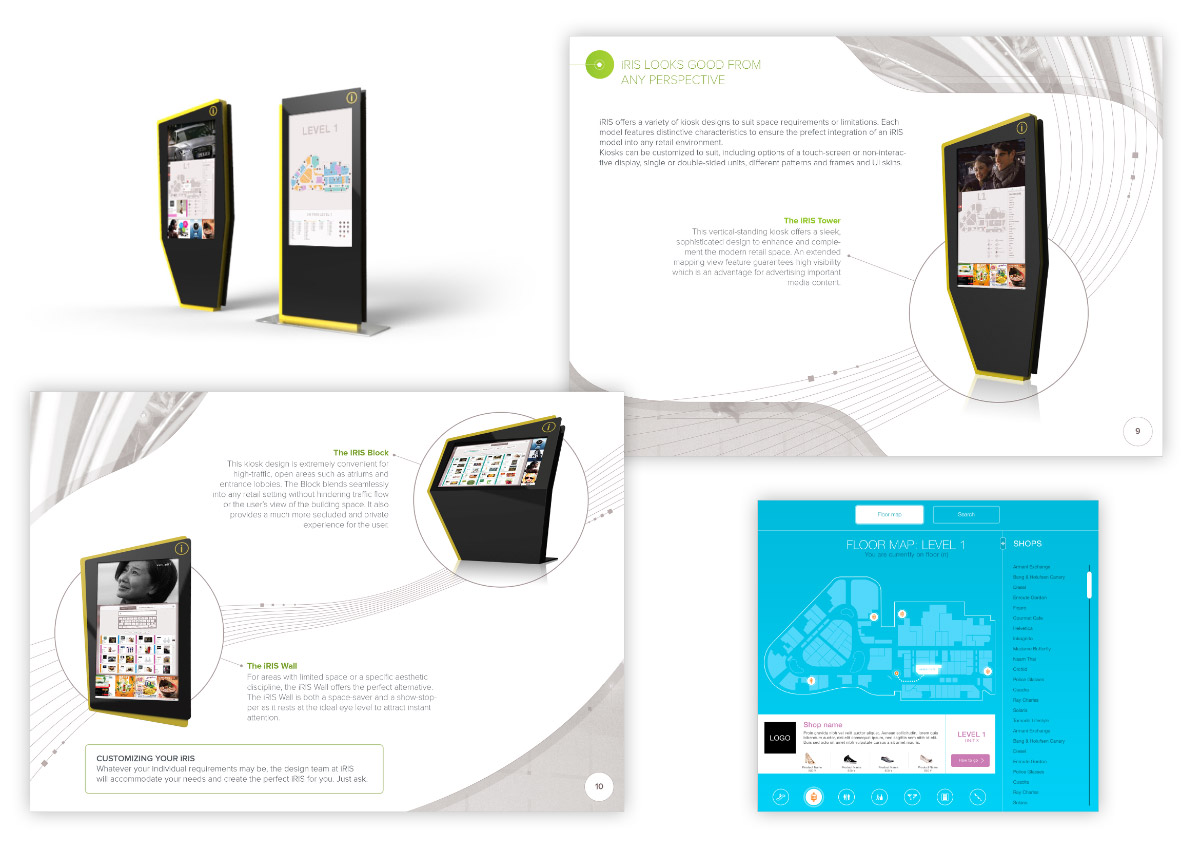 Interactive Kiosk's promotion brochure